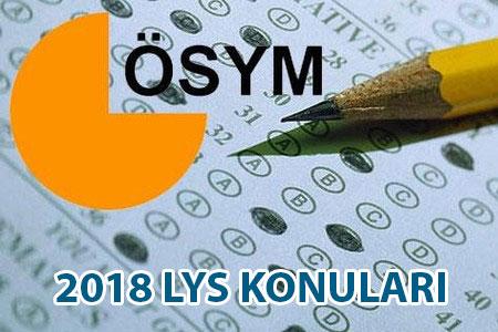 2017 2018 LYS konuları neler?