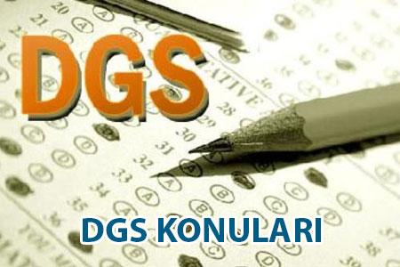 DGS Konuları Neler?