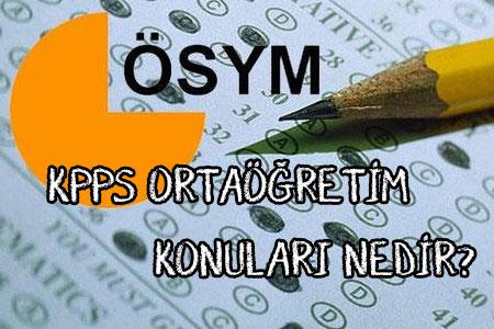KPSS Ortaöğretim Konuları Neler?